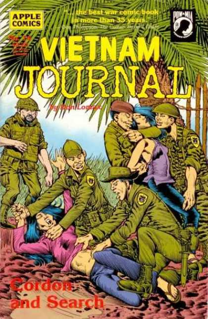 Vietnam Journal 14 - Best War Comic Book - Apple Comics - Cordon And Search - Soldiers - Rape