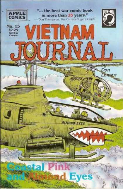 Vietnam Journal 15 - Apple Comics - Pow-mia - Best War Comic - Coastal Pink And Almond Eyes - Don Lomax