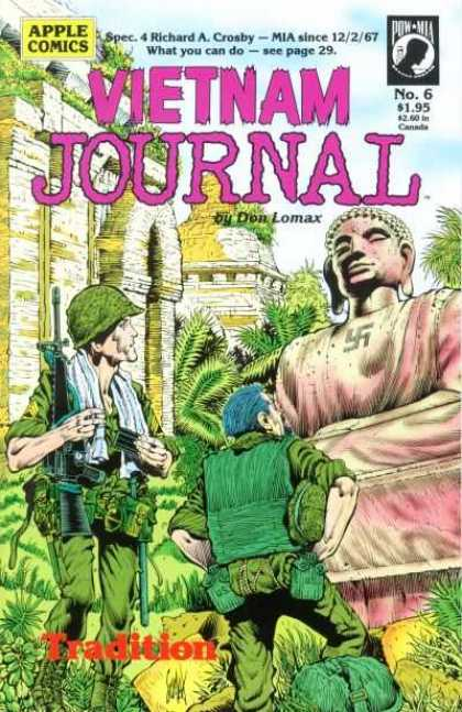 Vietnam Journal 6 - Don Lomax - Us Soldiers - Ruins - Buddha - Swastika