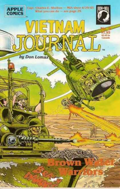 Vietnam Journal 9 - Don Lomax - War - Brown Water Warriors - Helicopter - Brain Damage