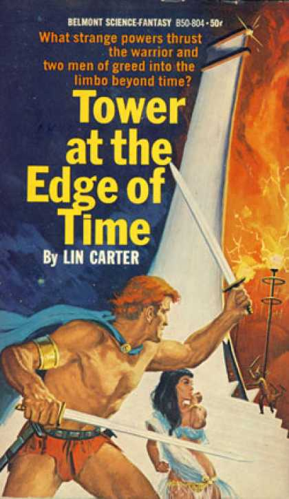 Vintage Books - Tower at the Edge of Time - Lin Carter