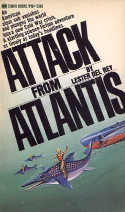 Vintage Books - Attack From Atlantis - Lester Del Rey