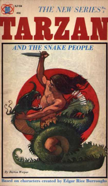 Vintage Books - Tarzan and the Snake People - Barton Werper