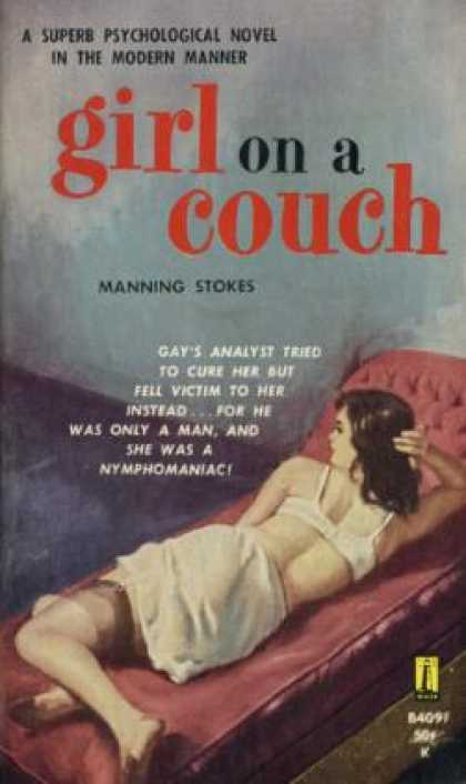 Vintage Books - Girl On a Couch - Manning Stokes