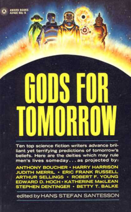 Vintage Books - Gods for Tomorrow - Hans Stefan, Editor Santesson