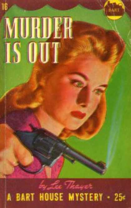 Vintage Books - Murder Is Out - Lee Thayer