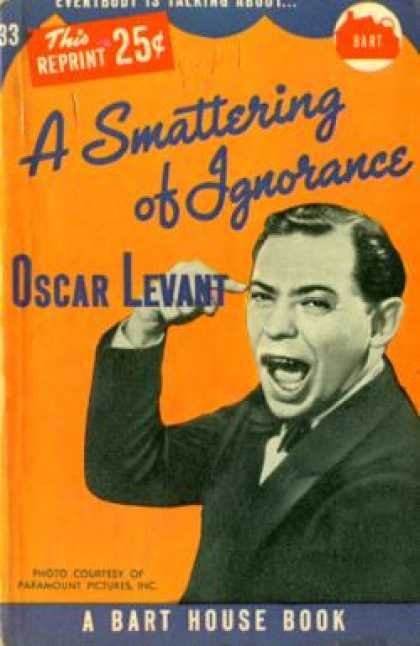Vintage Books - A Smattering of Ignorance - Oscar Levant