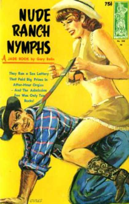 Vintage Books - Nude Ranch Nymphs - Gary Bolin