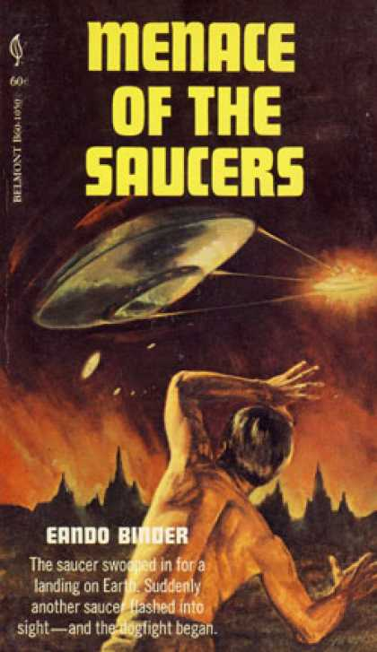 Vintage Books - Menace of the Saucers - Binder Eando