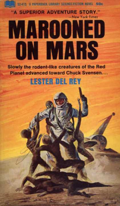 Vintage Books - Marooned On Mars - Lester Del Rey