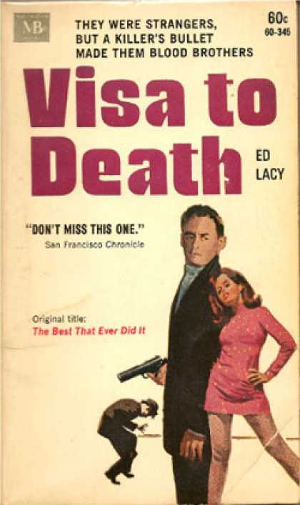 Vintage Books - Visa To Death (1968 Paperback) - Ed Lacy