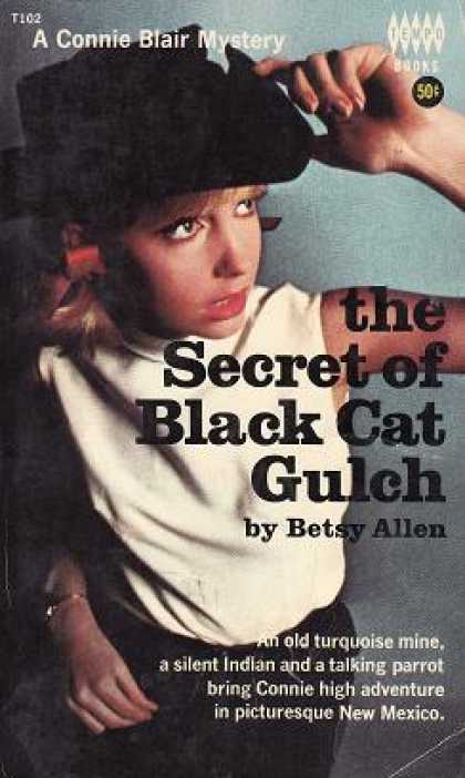 Vintage Books - The Secret of Black Cat Gulch - Betsy Allen
