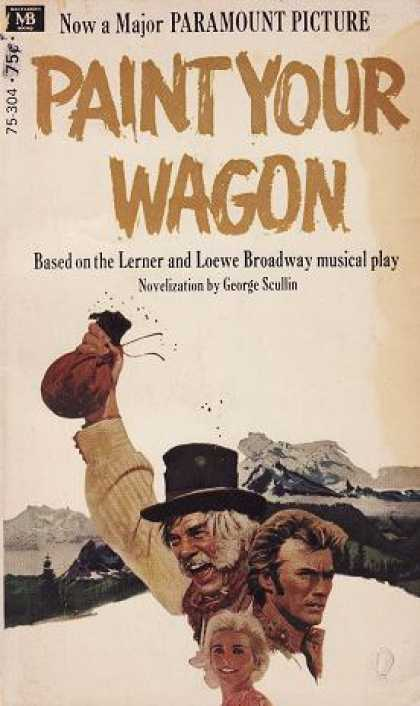 Vintage Books - Art Poster Print - Paint Your Wagon - Artist: Unknown- Poster Size: 17 X 11