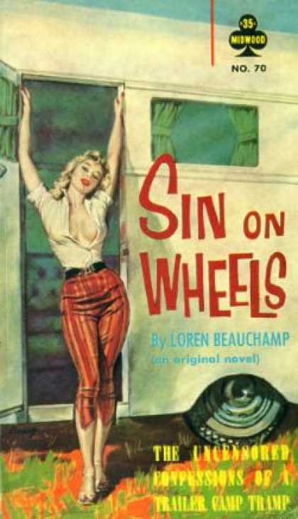 Vintage Books - Sin On Wheels: Pulp Journal - Peter Pauper Press