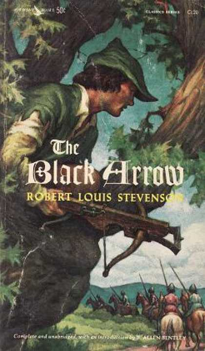 Vintage Books - The Black Arrow - Robert Louis and B. Allen Bentley Stevenson