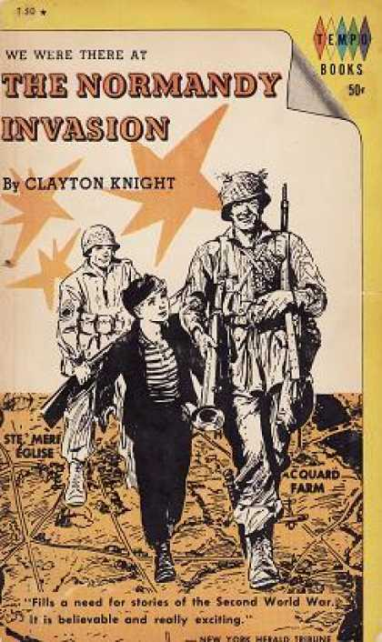 Vintage Books - We Were There at the Normandy Invasion - Clayton Knight