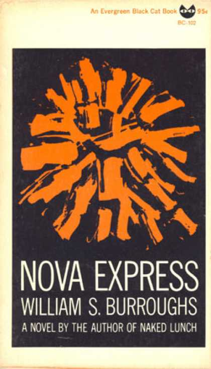 Vintage Books - Nova Express a Novel - Blank Endpapers Light Residue, Photo of Author Back Dj By