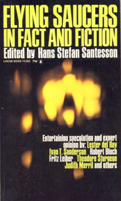 Vintage Books - Flying Saucers In Fact and Fiction - Hans Stefan Santesson