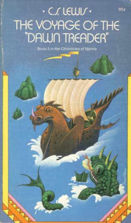 "Vintage Books - The Voyage of the ""Dawn Treader"" ~ C.s. Lewis ~ 1971 Paperback Edition ~ - C.s."
