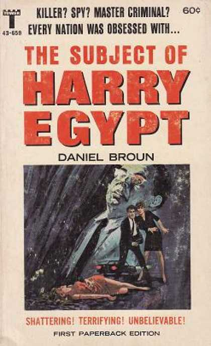 Vintage Books - The Subject of Harry Egypt - Daniel Broun