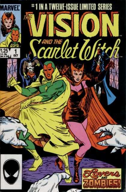 Vision and the Scarlet Witch 1 - Twelve-issue - Marvel - October - Lovers And Zombies - Cape