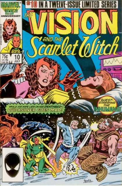 Vision and the Scarlet Witch 10 - The Vision And The Scarlet Witch - Quicksilver Goes Mad - Guest Starring The Inhumans - Inhumans - Quicksilver