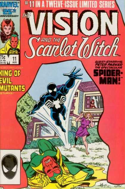 Vision and the Scarlet Witch 11 - Spider Man - Green Goblinn - Splat - Purple Roof - Evil Mutants