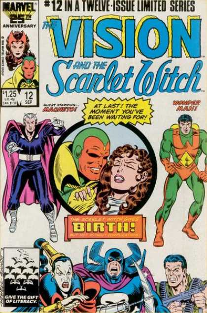 Vision and the Scarlet Witch 12 - Android - Child Birth - Cape - Weapons - Magneto