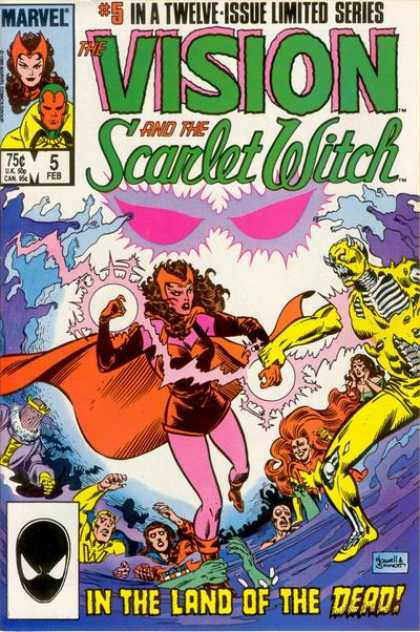 Vision and the Scarlet Witch 5 - Devil - Lightening - Eyes - Cheering - Cape