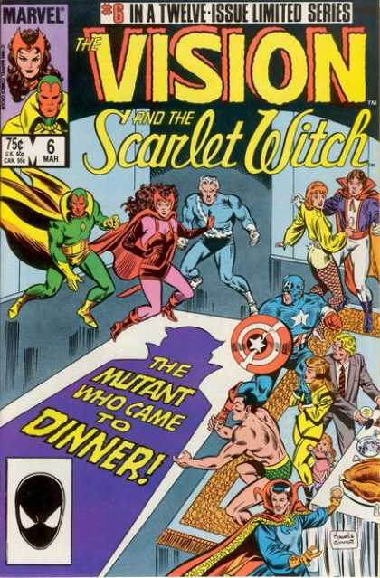 Vision and the Scarlet Witch 6 - 6 Limited Series - The Mutant Who Came To Dinner - Mar 6 - Captain America - Food On Dining Table