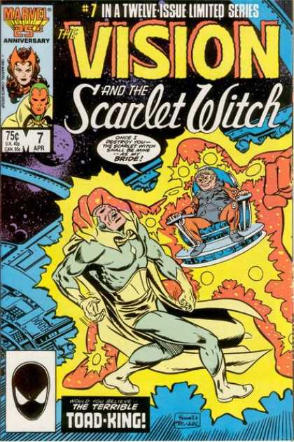 Vision and the Scarlet Witch 7 - The Vision - Scarlet Witch - The Terrible Toad-king - Marvel - Space
