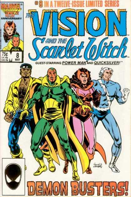 Vision and the Scarlet Witch 8 - 8 In A Twelve Issue - Power Man - Quicksilver - Demon Busters - Limited Series