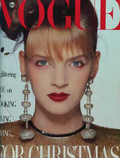 Vogue - Uma Thurman - December, 1985