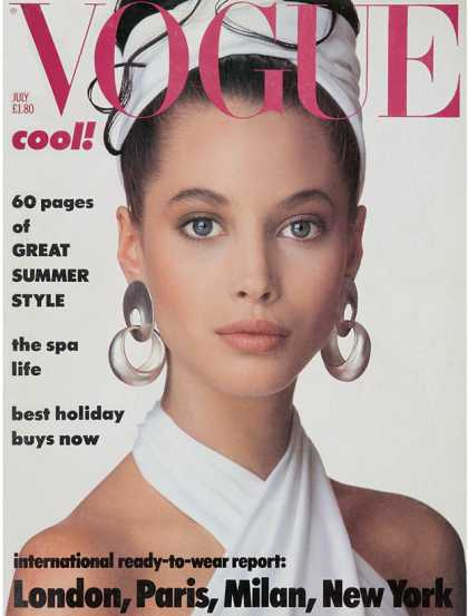 Vogue - Christy Turlington - July, 1986