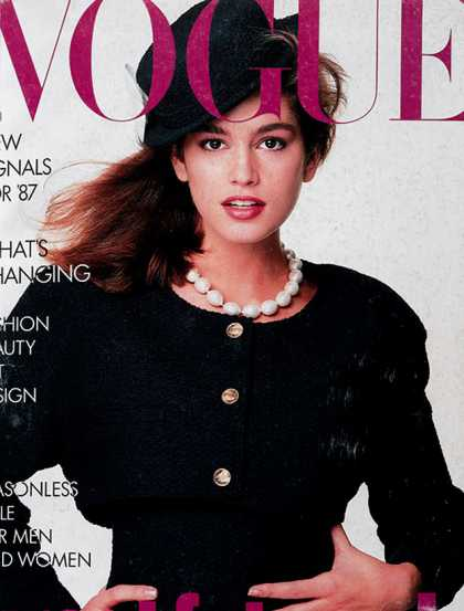 Vogue - Cindy Crawford - January, 1987