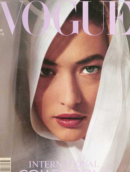 Vogue - Tatjana Patitz - March, 1989