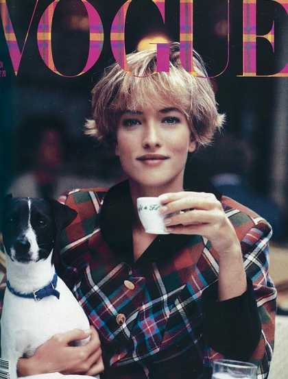 Vogue - Tatjana Patitz - November, 1989