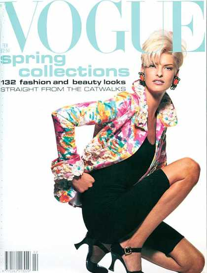 Vogue - Linda Evangelista - February, 1991