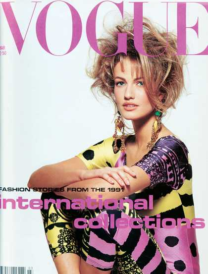 Vogue - Karen Mulder - March, 1991