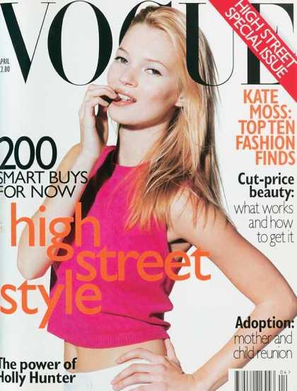 Vogue - Kate Moss - April, 1996