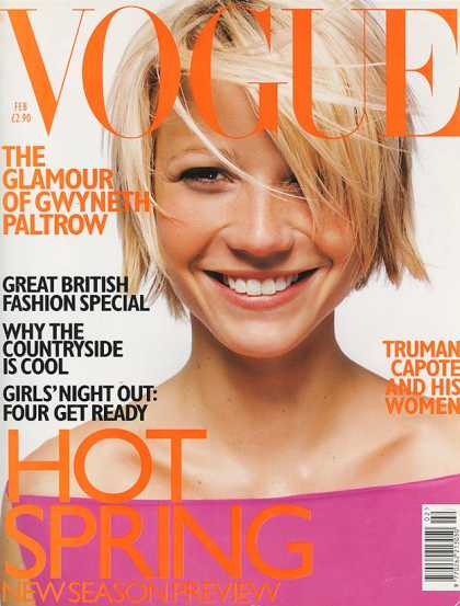 Vogue - Gwyneth Paltrow - February, 1998