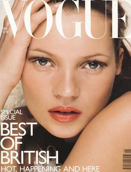 Vogue - Kate Moss - June, 1998
