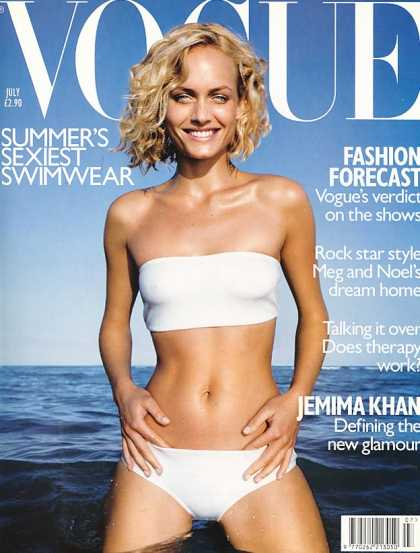 Vogue - Amber Valletta - July, 1998