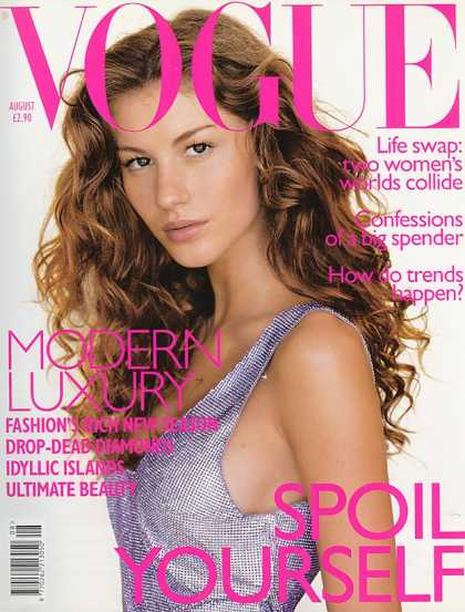 Vogue - Gisele Bundchen - August, 1998