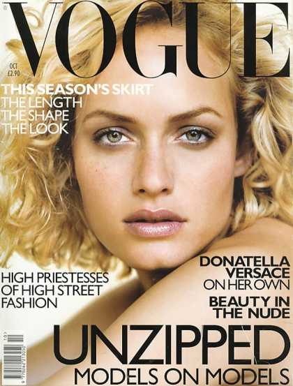 Vogue - Amber Valletta - October, 1998