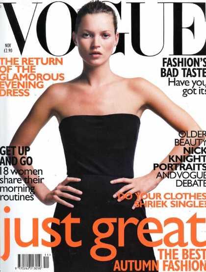 Vogue - Kate Moss - November, 1998