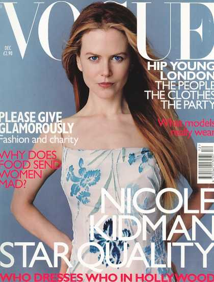 Vogue - Nicole Kidman - December, 1998