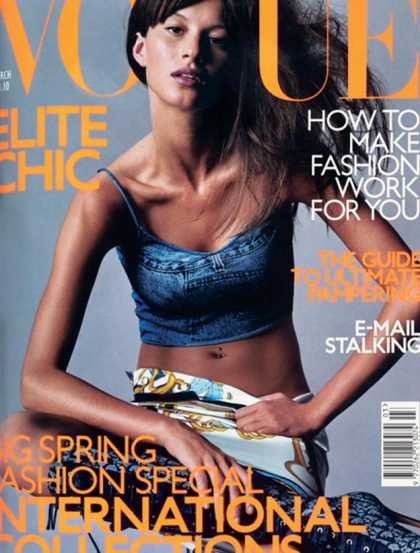 Vogue - Gisele Bundchen - March, 2000