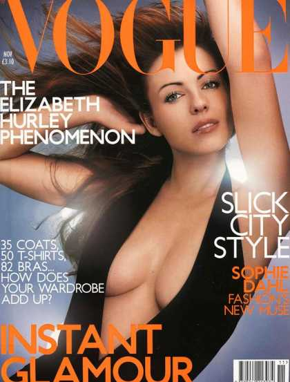 Vogue - Elizabeth Hurley - November, 2000