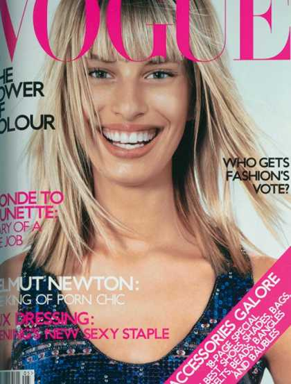Vogue - Karolina Kurkova - May, 2001